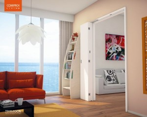 Compack Living applicato su porte a 3 ante