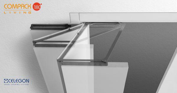 Sistema di ferramenta per porte COMPACK Living 180° di CELEGON