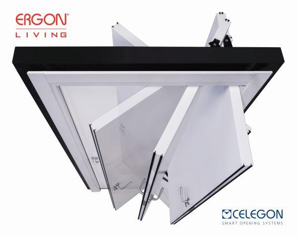 CELEGON - movimento apertura della porta Ergon