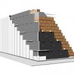 STIFERITE Fire B: pannello idoneo per l'isolamento di facciate ventilate