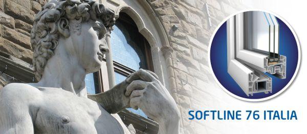 Profilo VEKA SOFTLINE 76 ITALIA per finestre e portefinestre in PVC