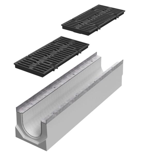 Canali completi di griglie for Linee d acqua in plastica vs rame