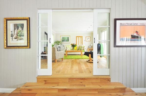 Interno di una Casa in legno