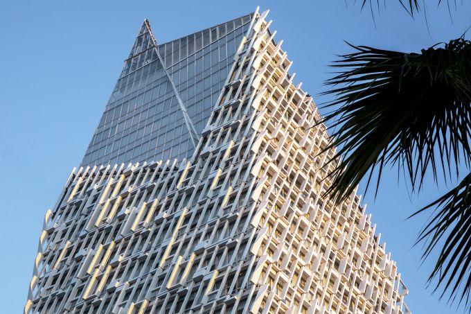 Casablanca Finance Tower, effetto mosaico in facciata