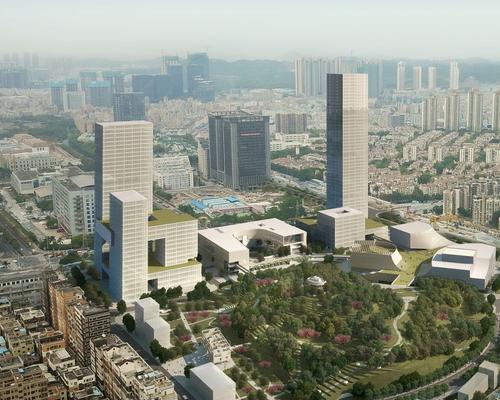Centro artistico culturale di Shenzhen con il parco pubblico sul tetto
