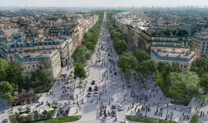 progetto di riqualificazione degli Champs-Élysées a Parigi