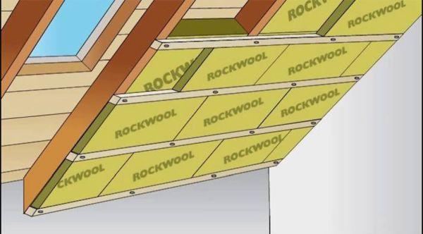 Pannelli di lana di roccia Rockwool per la Coibentazione del tetto dall'interno