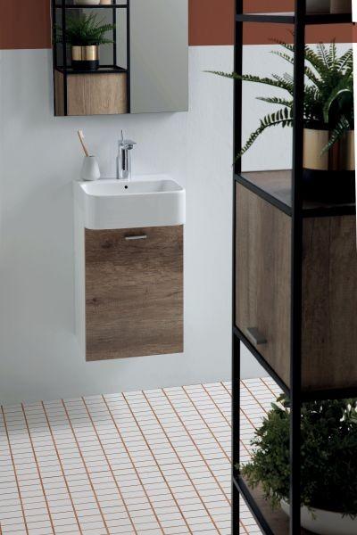 Colavene – Aquaceramica Collezione di mobili con minilavabi di design ideali per bagni piccoli.