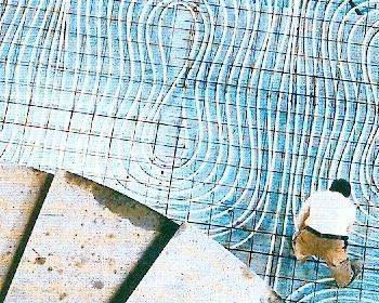 Posa in opera dell'impianto a pannelli radianti per pavimento nella Mole Antonelliana