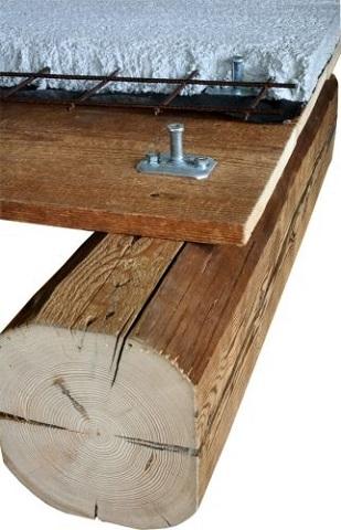 Connettore solai legno-calcestruzzo
