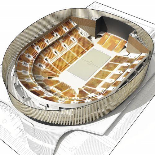 Royal Arena di Copenhagen dalla forma ellittica