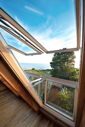 Dettaglio della finestra a balcone