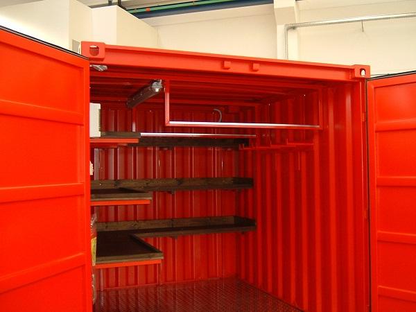 Interno del container