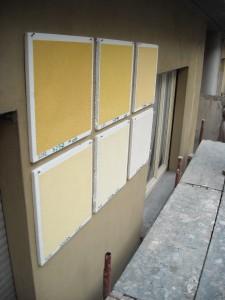 Prove di colore a parete in corso d'opera