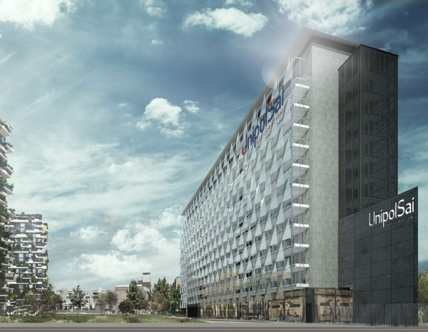 Render del complesso UnipolSai di via De Castillia a Milano (Progetto CMR)