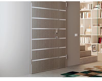 Colore nei rivestimenti delle porte blindate - Porta esterna in alluminio ...