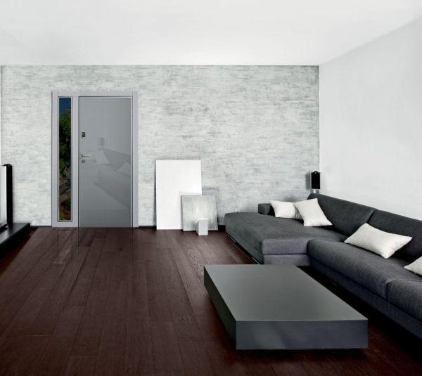 Dierre,  porta blindata hibry con rivestimento grigio metallizzato