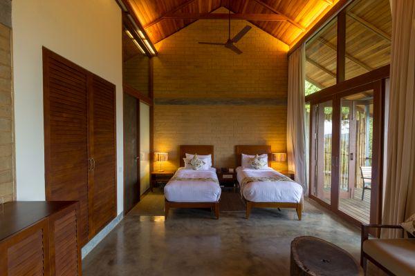 Il mondo bagno Duravit per il Prakriti Shakti Resort in India. Una delle camere