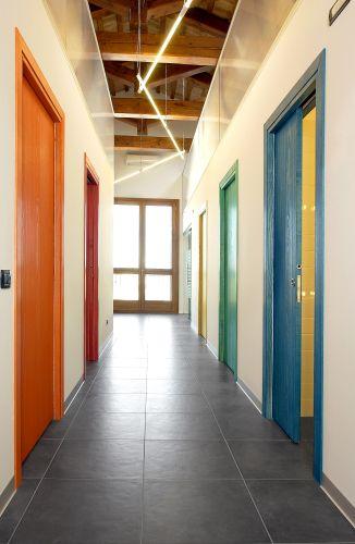 Porte scorrevoli colorate, controtelaio Unico di Eclisse