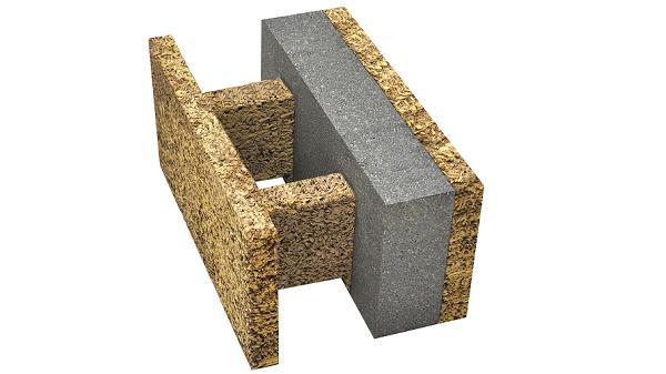 Blocco in legno-cemento