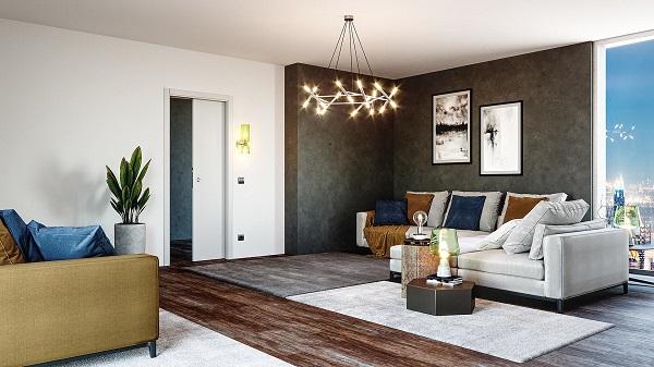 Luminox: il controtelaio per interni con punto luce nei pressi del vano porta