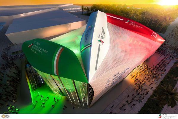 Padiglione Italia a Expo Dubai 2020, 3 scafi di navi capovolte