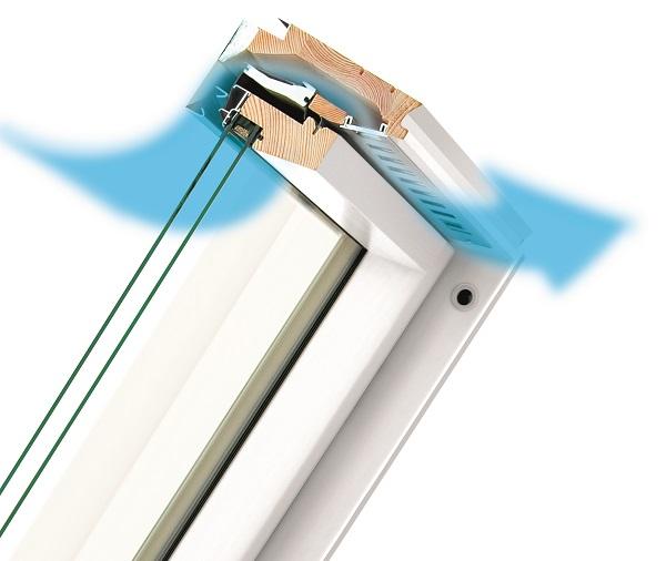 Finestra a bilico resistente all'umidità