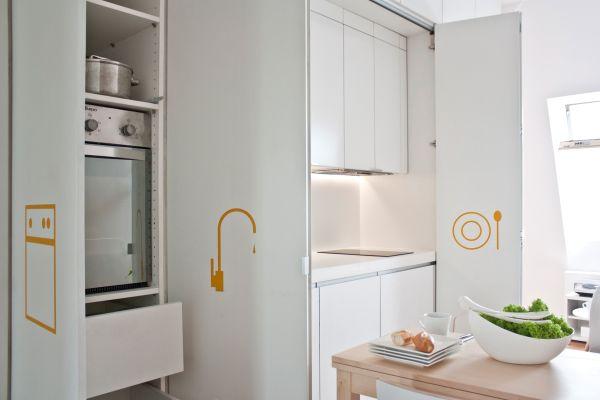 La finestra Fakro finestra proSky assicura massima luminosità e ricambio d'aria nelle cucine mansardate