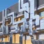 Una facciata che racconta design e architettura industriale