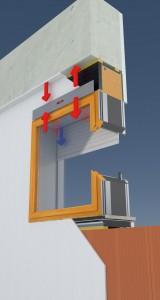 RoverBlok VMC - versione filo muro interno all'interno del blocco finestra