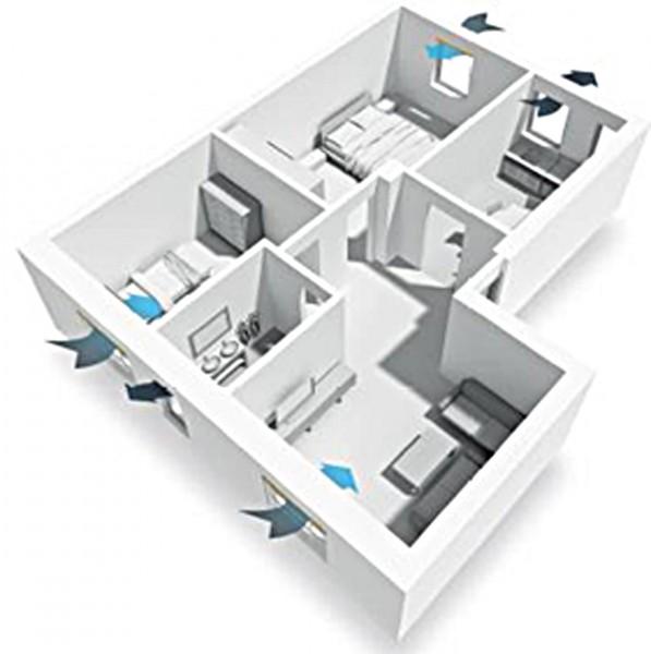 Ventilazione di abitazione con RoverBlok VMC single room per il ricambio d'aria