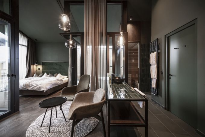 Interno delle nuove suite Floris del Parc Hotel Florian a Siusi