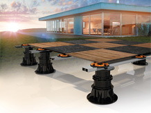 PEDESTAL LINE semplifica la posa di pavimenti esterni