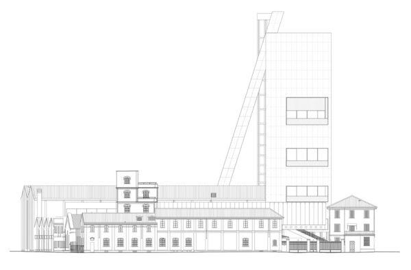 Disegno nuova Torre Prada di Milano