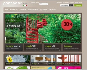 L'home page di Fontanotshop