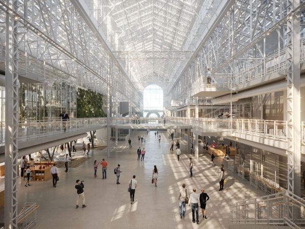 Interno GES -2, colossale progetto di Renzo Piano Building Workshop a Mosca