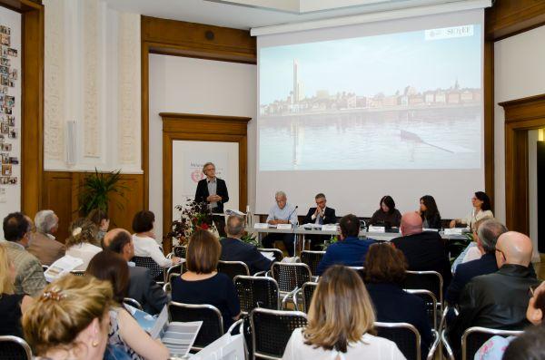 Arch. Architetto Gianandrea Barrecaalla presentazione della collezione Urbancromie di Settef