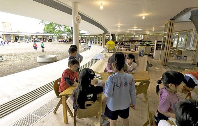 la scuola Fuji Kindergarten e gli spazi di gioco