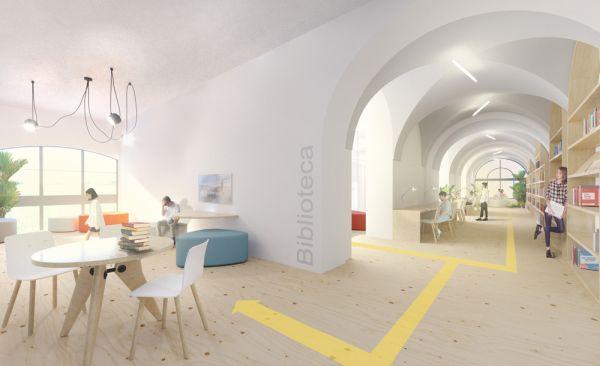 Torino fa scuola, la biblioteca della nuova scuola Giovanni Pascoli