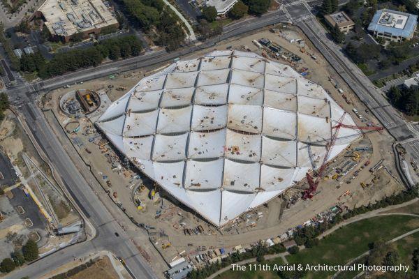 Vista aerea del tetto del Google's New Buildings