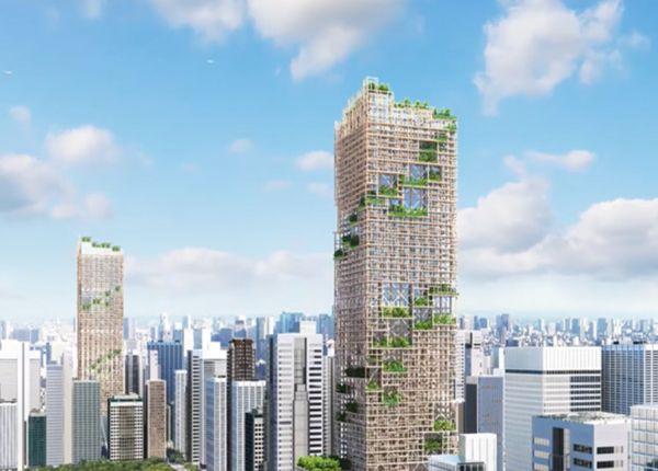 Grattacielo in legno in Giappone