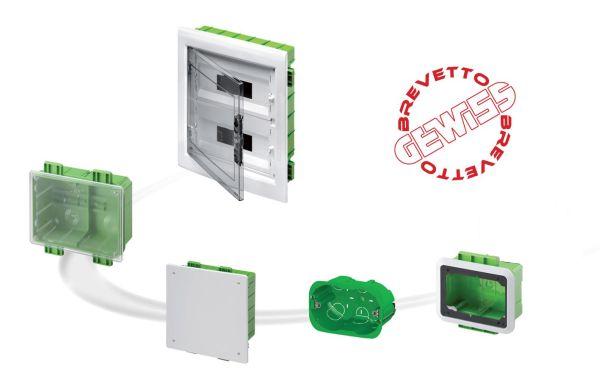Serie GREEN WALL di Gewiss per la realizzazione di impianti elettrici in edifici con strutture in cartongesso