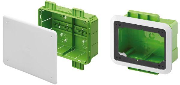 Cassette di derivazione e per prese interbloccate della serie Green Wall di Gewiss