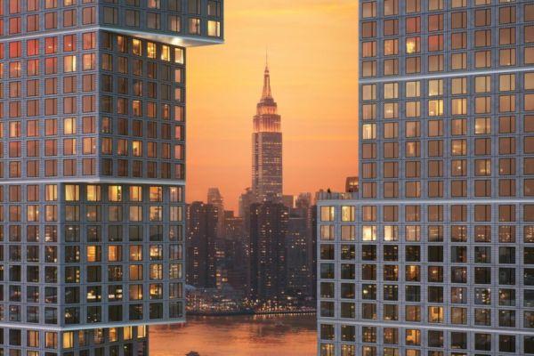 Greenpoint Landing a Brooklyn, grattacieli complementari che ricordano il tertris