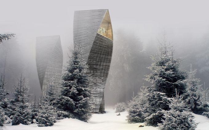 Helix House: la casa a spirale rivestita con doghe in legno