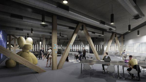 L'area laboratorio della Nuova biblioteca Ood a Helsinki