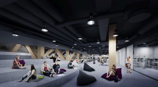 Nuova biblioteca Oodi di ALA Architects: Tre piani, spazi polifunzionali open space