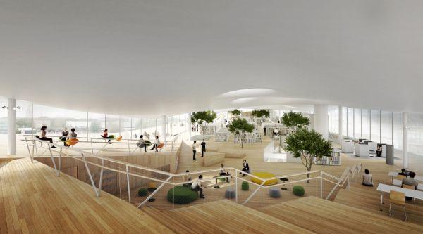 Nuova biblioteca Oodi di ALA Architects ad Helsinki, Finlandia