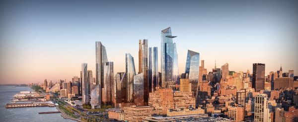 Lo skyline di New york dove a breve si inaugurerà lo Hudson Yards