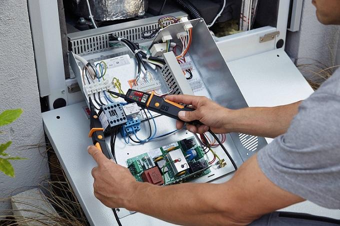 Tester di tensione testo 750-3 con indicatori a LED e display